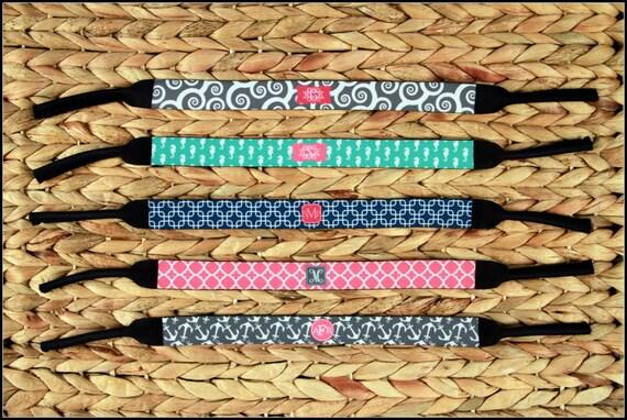 Monogram Kroakies Personalized Custom Monogrammed Sunglass Strap Croaky Kroakies Bachelorette Bridal Party Gifts Best Friend Gifts Birthday