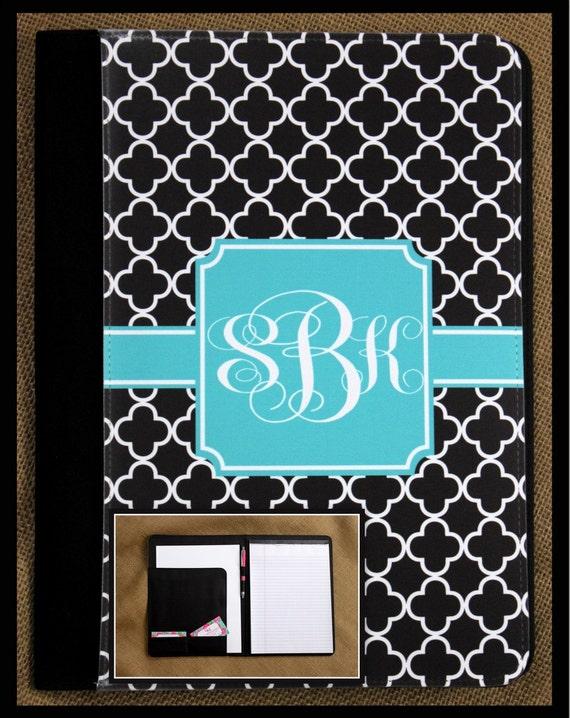 Appreciation Gift for Coworker Business Portfolio Custom Pad-folio Monogrammed Gift Office Accessories Monogram Padfolio Notepad Notebook