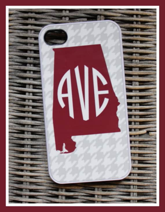 Alabama Personalized iPhone Case, State Monogrammed iPhone Case, Monogram iPhone Case, Custom iPhone Case, iPhone, iPhone 7+ Case Plus 7s 7