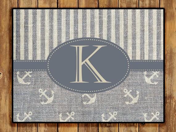 Personalized Door Mat Monogrammed Doormat Custom Home and Living Decor Nautical Anchor Rugs Mats Rustic Indoor Outdoor Hostess Gift Ideas