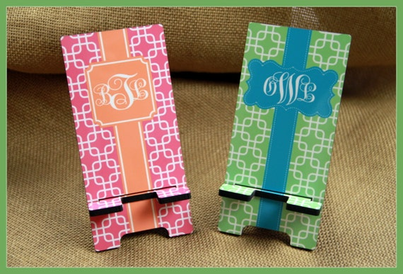 Cell Phone Stand Monogrammed Gift Personalized Mobile Co-Worker Boss Gift Desk Accessories Charger Stand Gift For College Student