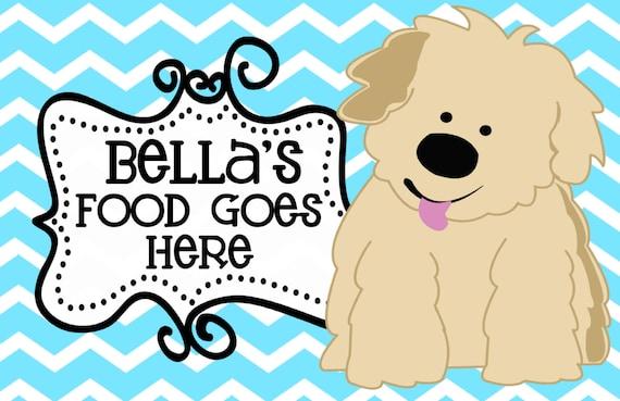 Dog Placemat, Dog Foot Mat, Pet Placemat, Pet Food Mat, Personalized Pet Placemat, Laminated Placemat, Dog