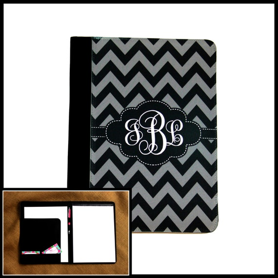 College Student Gift Monogrammed Padfolio Gifts for Coworkers Business Padfolio Custom Personalized Portfolio Monogram Notepad Case
