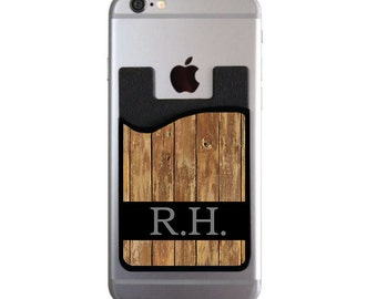 Gifts For Dad Gifts for Him Custom Cell Phone Card Caddy Phone Wallet iPhone Samsung Card Holder Gifts for Men for Him