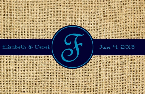 Burlap Look Paper Placemats Premium Rehearsal Dinner Placemats, Rustic Personalized Monogrammed Place Mats Wedding Decorations Table Decor