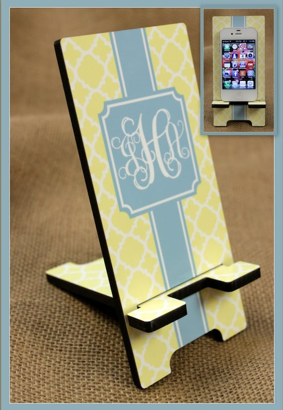 Monogrammed Phone Docking Station Cell Phone Stand Monogrammed Gift Personalized Mobile Co-Worker Boss Gift Desk Accessories Charger Stand