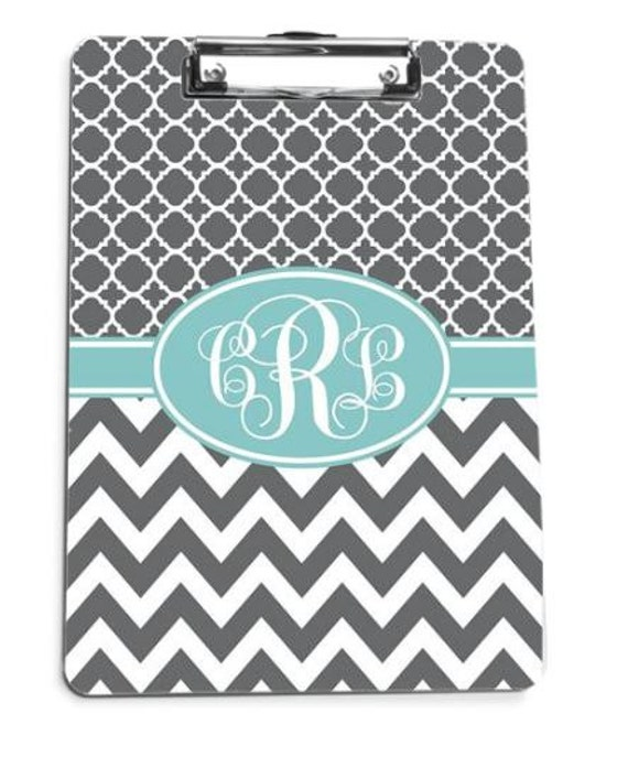 Teacher Gifts for Her Monogrammed Clip Board Custom Clipboard Personalized Clip Board Monogrammed Gift College Teacher Gift