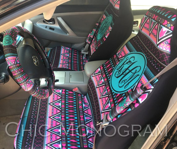 Aztec Tribal Car Accessories Set Of Two Front Seat Covers