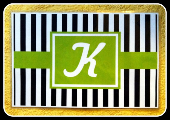 Placemat Set of Four, Personalized Placemats, Monogrammed Placemats, Laminated Placemats, Paper and Laminate Placemats