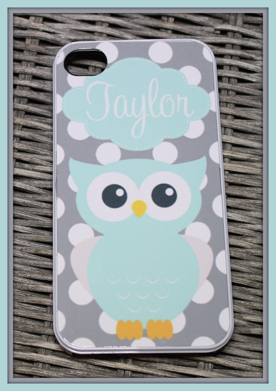 Monogrammed iPhone Case, Personalized iPhone Case, Monogram iPhone Case, Custom iPhone Case, iPhone 7+ Case, iPhone 7s 7 6+ 6s 6 5 Owl