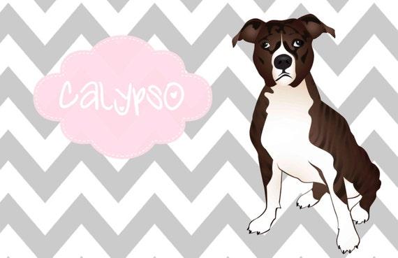 Dog Placemat, Dog Foot Mat, Pet Placemat, Pet Food Mat, Personalized Pet Placemat, Laminated Placemat, Pit Bull