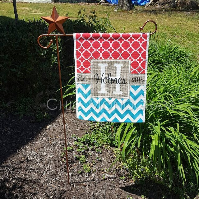 Mothers Day Personalized Garden Flag Monogram Custom Flag Outdoor ...