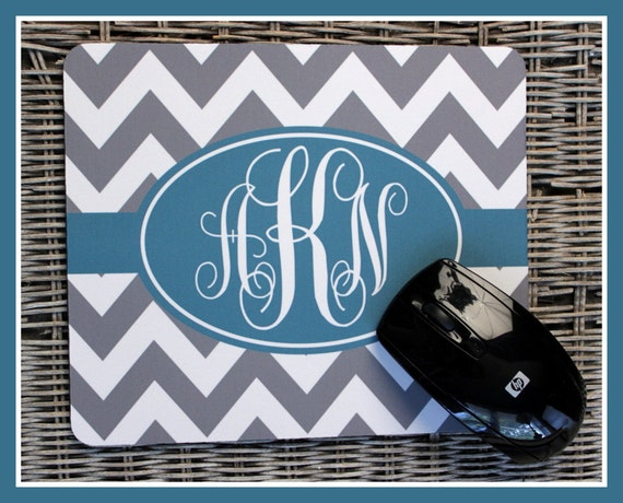 Employee Gift Ideas Personalized Mouse Pad Monogrammed Mouse Pad, Monogrammed Mousepad, Custom Mouse Pad, Custom Mousepad