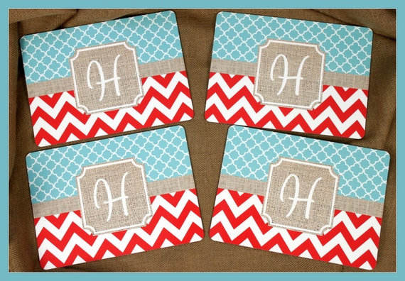 Placemats Hardboard Dining Table Setting Monogrammed Personalized Housewarming Hostess Gifts