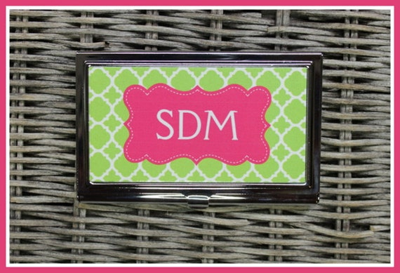 Monogrammed Business Card Case, Personalized Business Card Case, Monogrammed Business Card Case, Personalized Gift