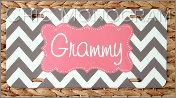 License Plate for Grandma, Front License Plate for Nana, Car Tag Personalized Monogrammed Car Tag Mothers Day Car Accessories Gift New Car
