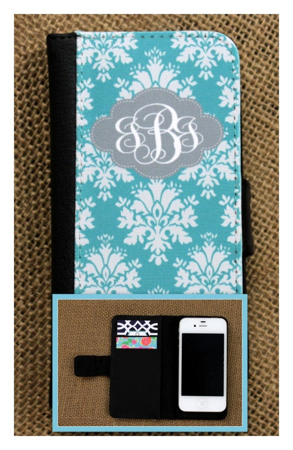 iPhone Wallet 7 7 Plus 5 6 6+ 6 PlusSamsung Galaxy 3 4 and 5 Case Cell Phone Accessories Monogrammed Gift Custom Personalized