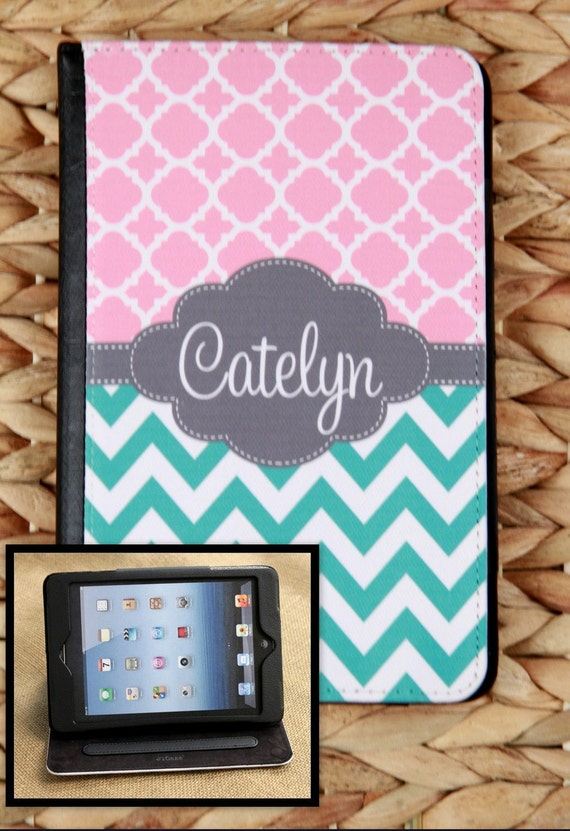 Birthday Gifts for Mom iPad Air iPad 2 3 Air Mini Cover Folio Monogrammed Personalized Custom Adjustable Angle Stand Notebook Case