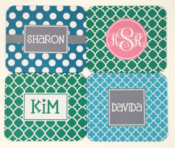 Employee Gift Custom Gift for Employees Monogram Mouse Pad Personalized Mousepad, Office Accessories Custom Desk Coworker Gifts Office Gifts