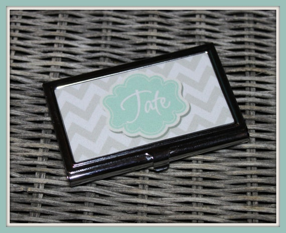 Business Card Case, Personalized Business Card Case, Monogrammed Business Card Case, Personalized Gift