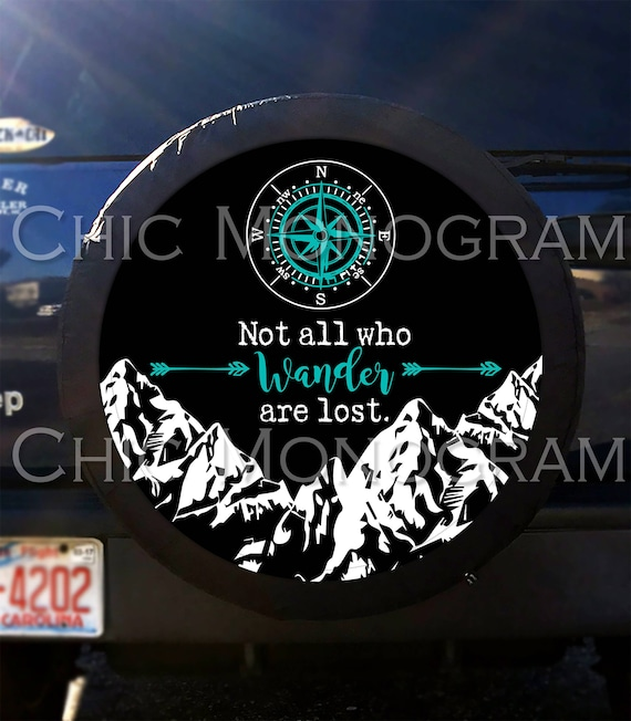 Black License Plate Frame NOT ALL WHO WANDER ARE LOST Auto Accessory