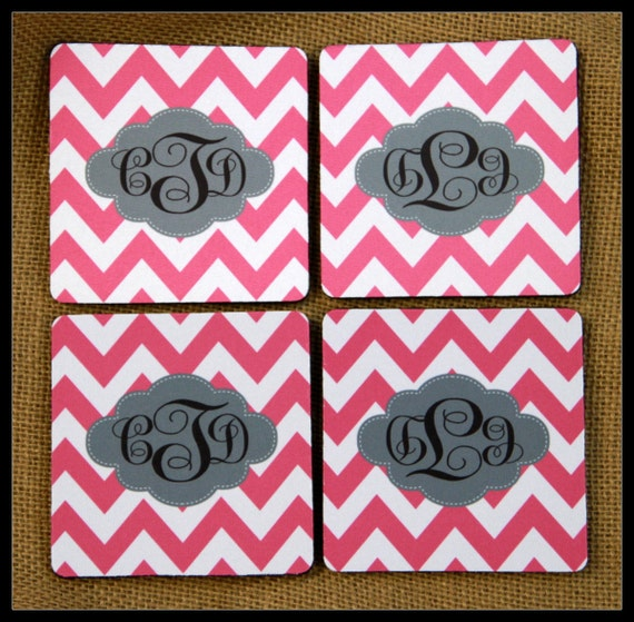 Personalized Coasters Custom Coasters Monogram Coasters Drink Coasters Wedding Coasters Monogrammed Gifts Wedding Hostess Housewarming Gift