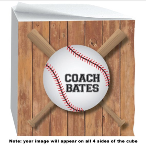 Coach Gift Idea for Coaches Tee Ball Baseball Note Cube with Sticky Adhesive 700 Sheets Personalized Desk Accessories Note Pad Office