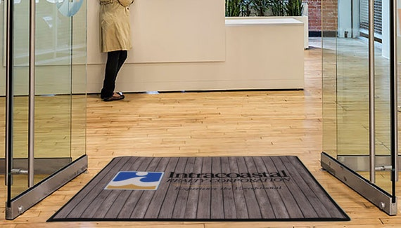 Door Mat With Your Business Logo Custom Door Mat Rustic Look For Company Personalized Front Doormat Custom Logo Mats Entrance Way Mat