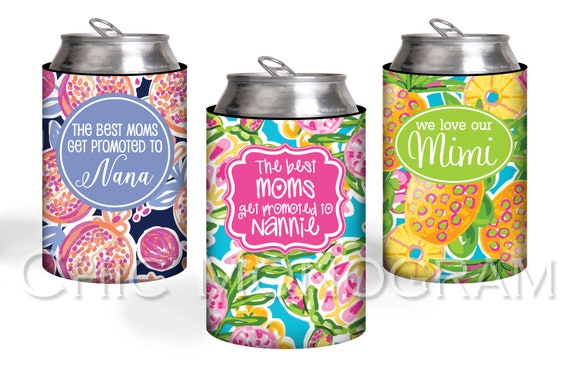 Mothers Day Gift Personalized Can Coolers The Best Moms Get Promoted To Custom Gift For Mom Can Coolies Unique Gift for Grandma