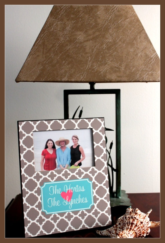 Christmas Gift Ideas, Personalized Picture Frame, Monogrammed Photo Frame, Custom photo frame, Photo Frame, 8 x 10 w/ 4 x 6