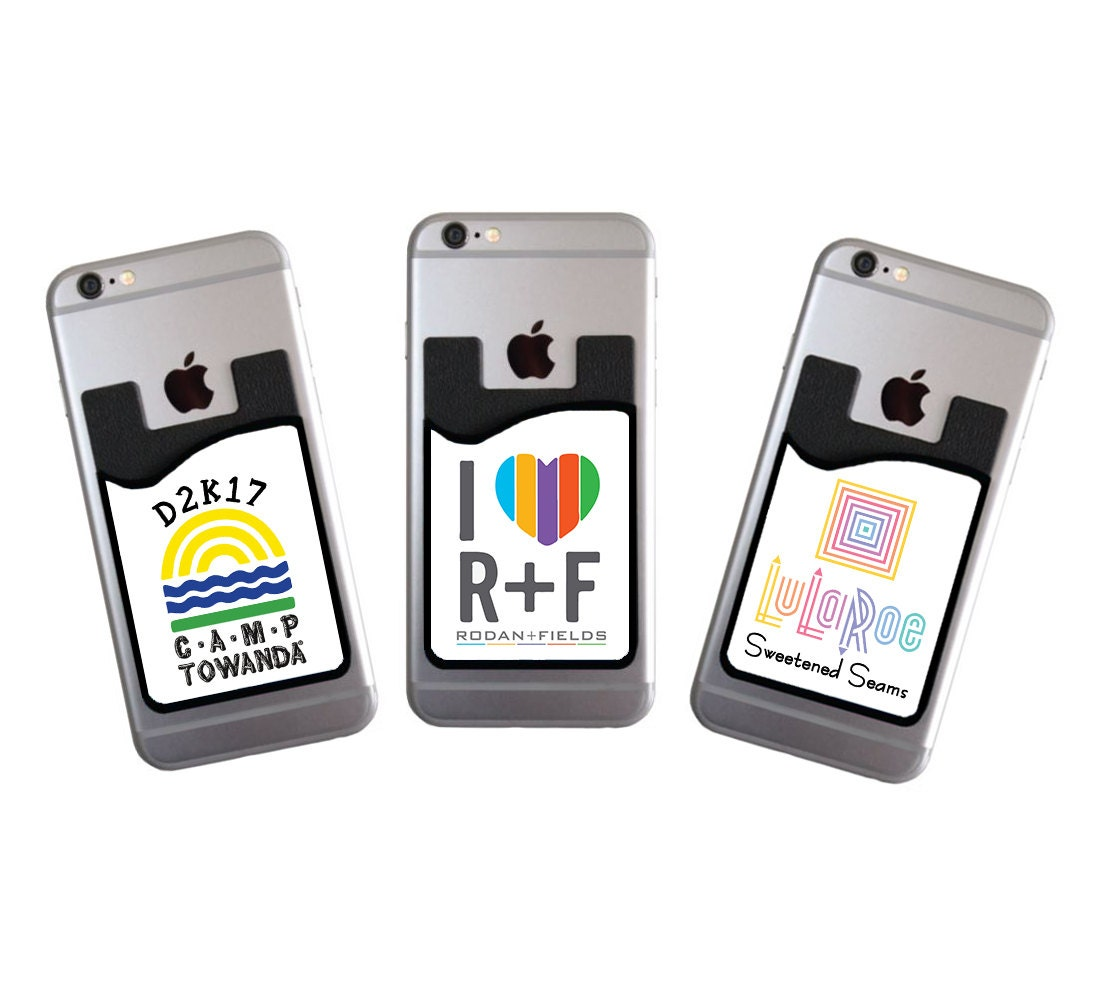 Custom cell phone card caddy phone wallet with your logo card holder custom cell phone card caddy phone wallet with your logo card holder id credit card student id marketing promotional item for your business reheart Images