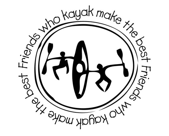 3 inch sticker, friends who kayak, kayak sticker