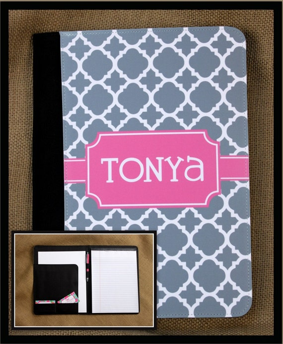 Personalized Pad-folio Notebook Notepad Promotion Gift Portfolio Monogrammed Large Personalized Custom Monogrammed Gift For Coworkers Office