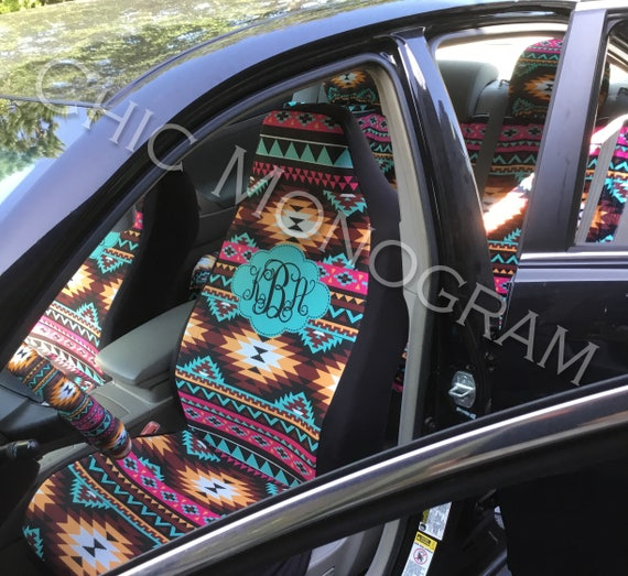 Aztec Car Seat Covers Set Of Two Front Tribal