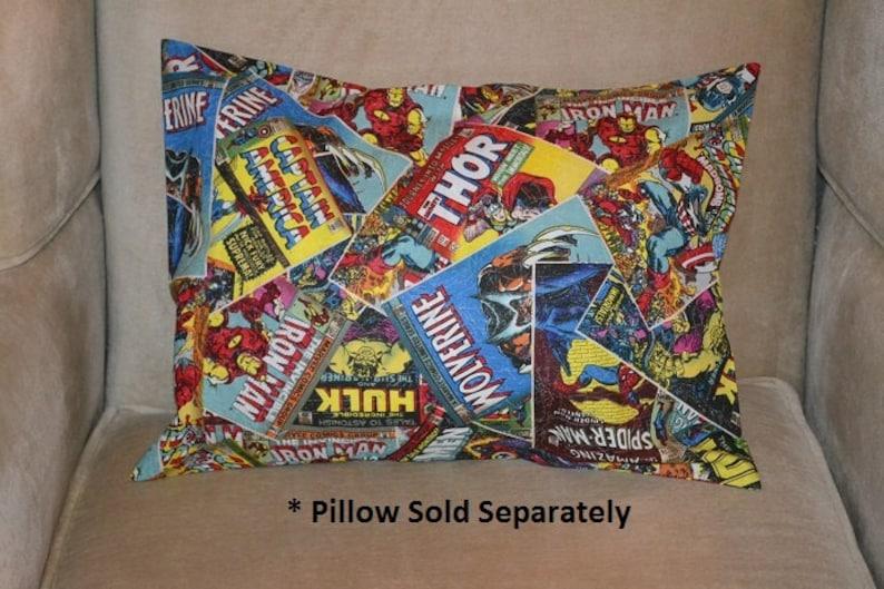 Travel Pillow Case  Child Pillow Case Marvel SUPER HEROES Comic Book AVENGERS  Captain America  Hulk  Thor  Ironman