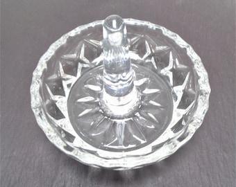 vintage ring dish proposal gift crystal ring dish engagement gift anniversary gift Elegant cut glass ring holder
