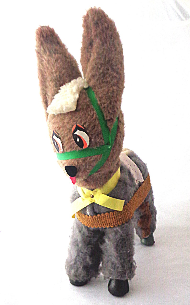 gift from Ireland vintage cuddly toy Toy Donkey from 1950s