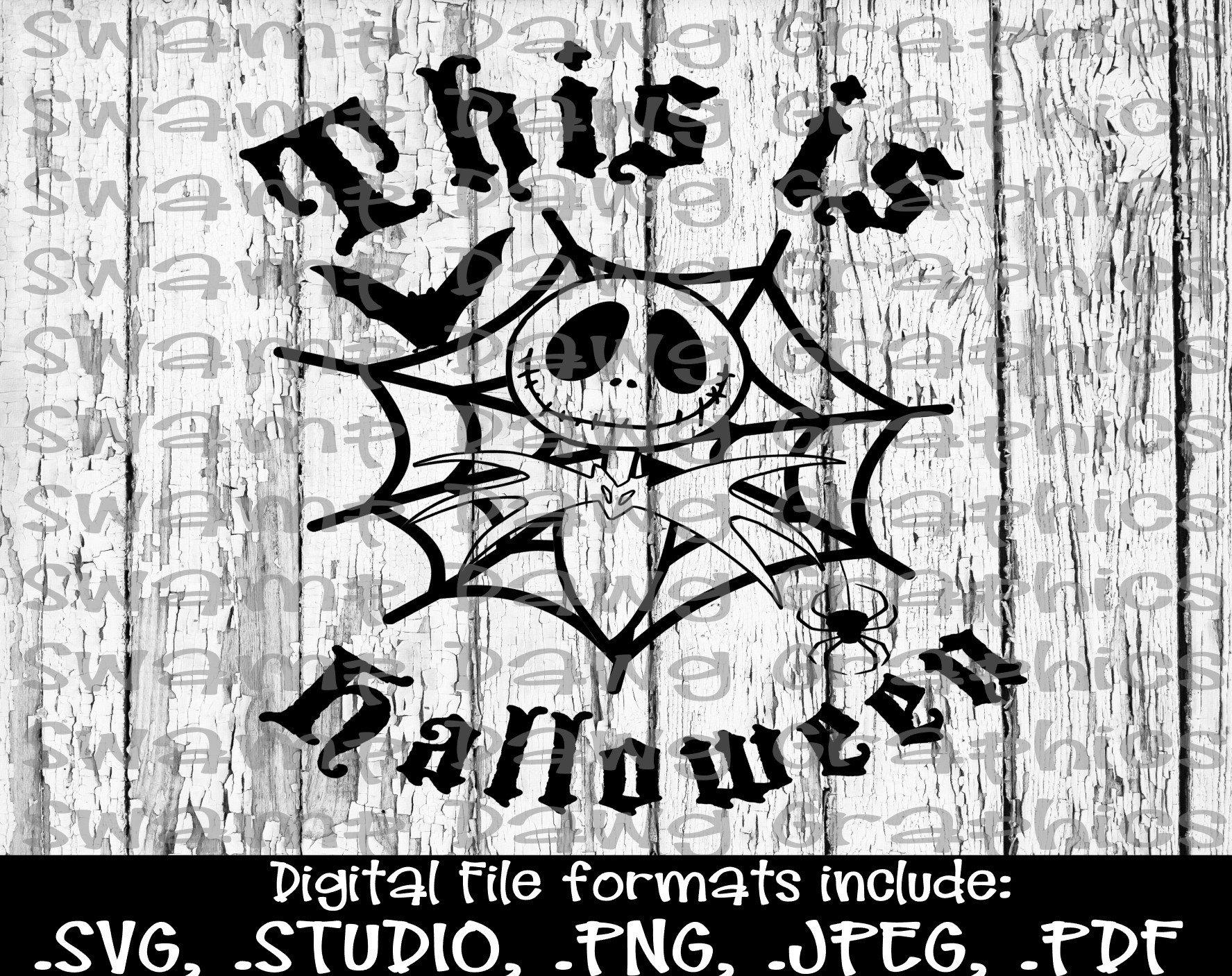 Jack Skeleton cut file silhouette cricut svg decal vinyl | Etsy