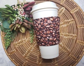 CLEARANCE Fabric Coffee Cozy / Coffee Beans Coffee Cozy / Coffee Cozy / Tea Cozy