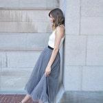 Gray Tulle Skirt Women Tulle Skirt Bridesmaid Dress Custom Tulle Skirt Wedding Skirt Handmade Skirt Tutu Skirts Tulle by breauxsews