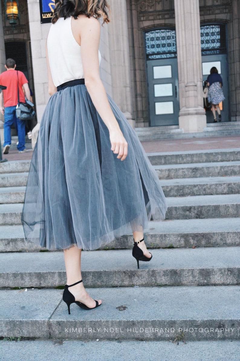 Gray Tulle Skirt Women Tulle Skirt Bridesmaid Dress Custom image 0