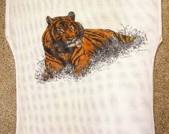 Vintage Mesh Top/Shirt - Tiger