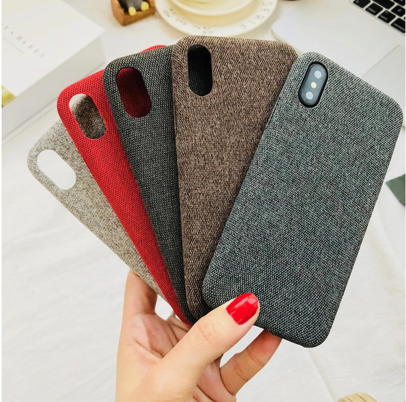 fabric iphone 8 plus case