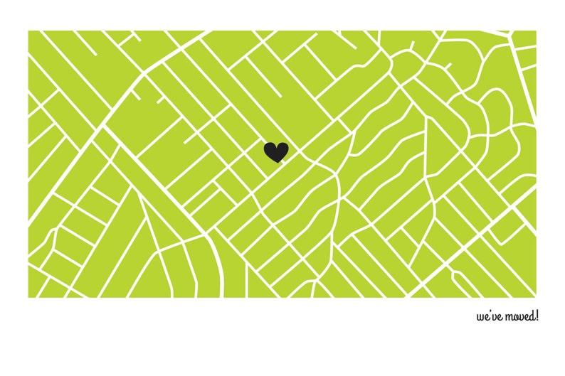 Cartes postales personnalisées d'annonce de déplacement / | Etsy