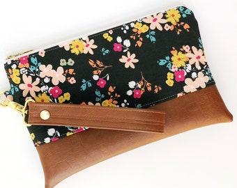 Floral Wristlet Clutch