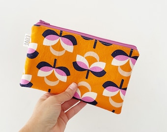 Flat Zippered Pouch, Simple Pouch, Pencil Pouch