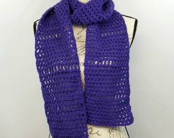 Long Purple Scarf, Wrap Scarf, Lightweight Scarf, Scarves for Women, Mothers Day Gift, Gift for Mom, Gift for Her, Gift for Wife