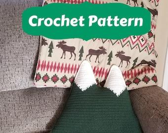 Mountain Pillow Crochet Pattern, Cuddler Pattern, Easy Beginner Crochet Pattern, Photo Tutorial, DIY Crochet Pillow, Mountain Plush Pattern