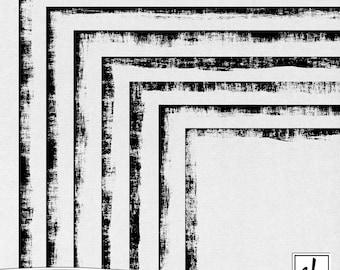 Distressed Borders - Distressed Digital Frames - Distressed Edges - Grungy Borders - Grungy Edges - Instant Download - CU OK