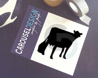 Dairy Cow Vinyl Sticker - Opt 3